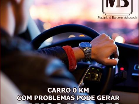 Carro zero com problemas gera danos morais!
