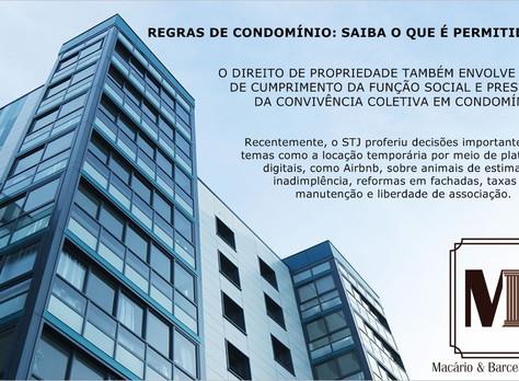 Regras condominiais: Saiba o que é permitido ou não de acordo com o STJ