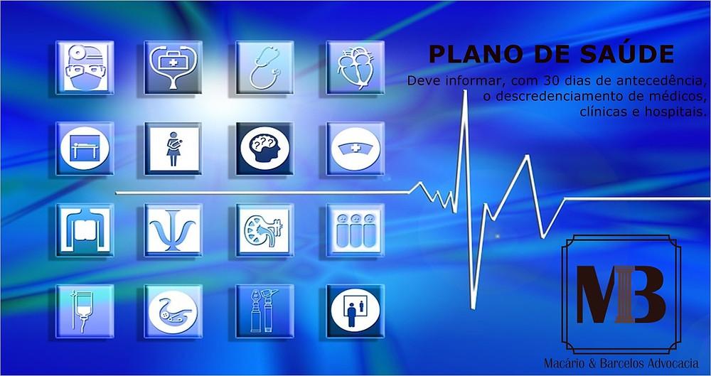 Plano de saúde deve informar descredenciamento de médicos, clínicas e hospitais