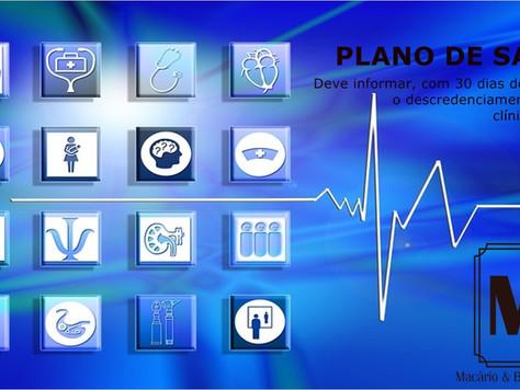 Plano de saúde deve informar descredenciamento de médicos e hospitais