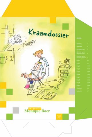 Kraamdossier voor Monique Boer Kraamzorg.        Huisstijl Mariska boer