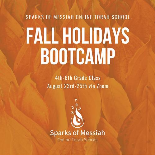 Fall Holidays Bootcamp: 4th-6th Grade Class