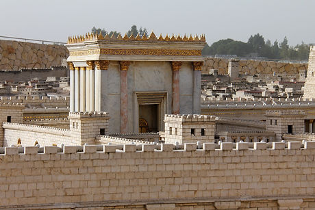 Second Temple. Model of the ancient Jeru