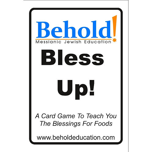 Bless Up! 4-in-1 Card Game To Learn The Blessings for Foods