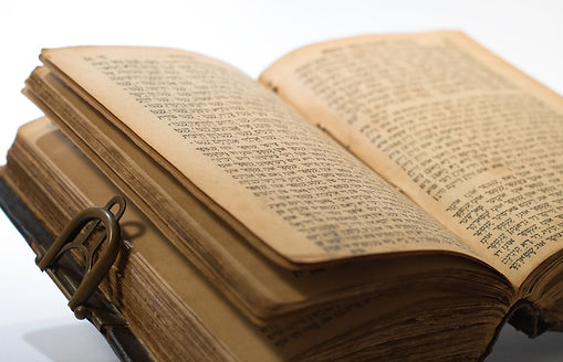 Old Jewish Book on white background