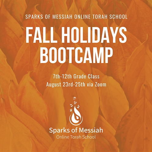 Fall Holidays Bootcamp: 7th-12th Grade Class