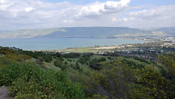Sea of Galilee, the Golan Heights, Israe