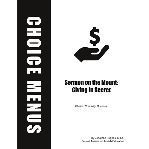 Giving In Secret Choice Menu