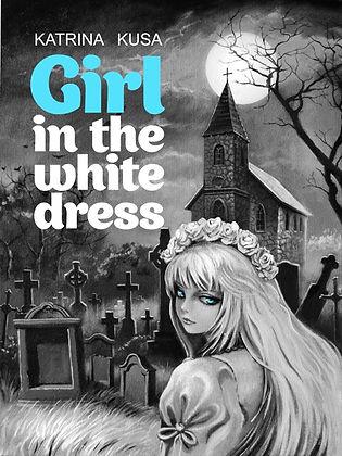 Girl in the white dress fantasy Book