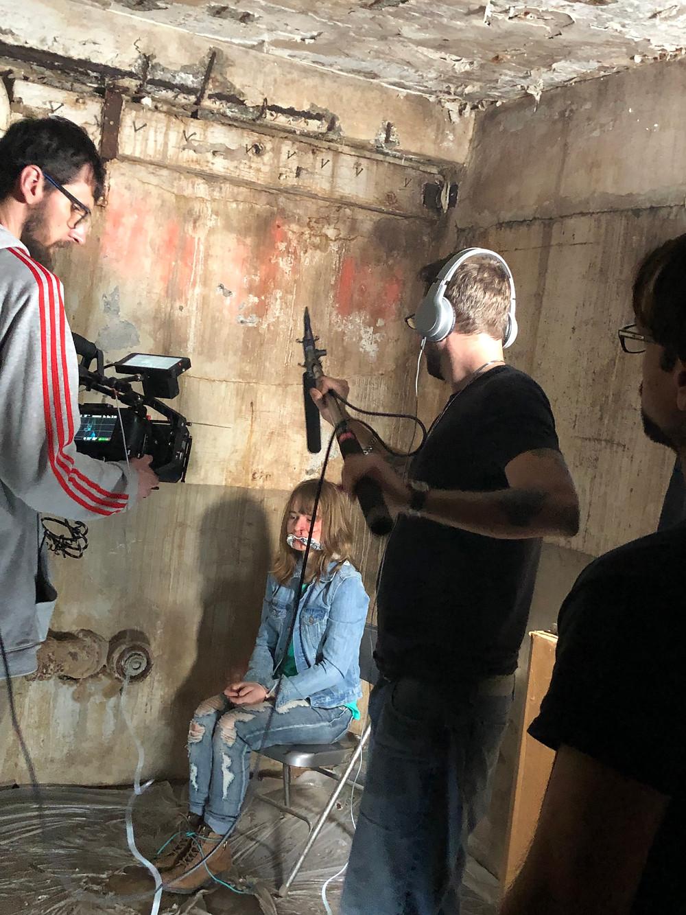 Behind the scenes Katrina Kusa on Set
