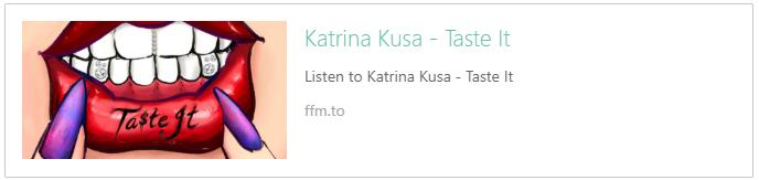Listen to Katrina Kusa Taste It Song