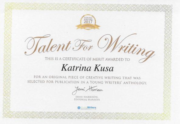 Katrina Kusa Award Winning Short Story