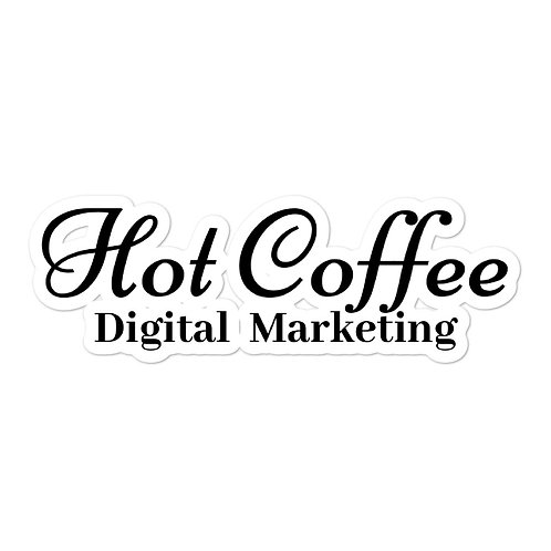 Hot Coffee Digital Marketing Sticker