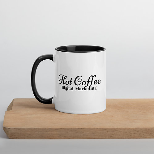 Hot Coffee Digital Marketing Mug with Color Inside