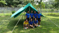 Tent Pitching at Camp Christine
