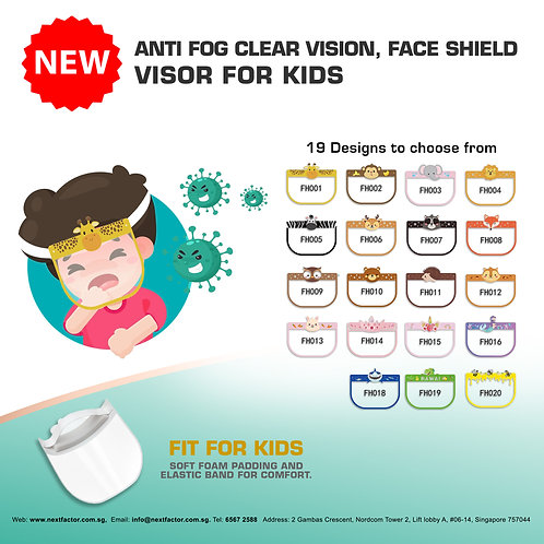 Bundle Package Kids Face Shield