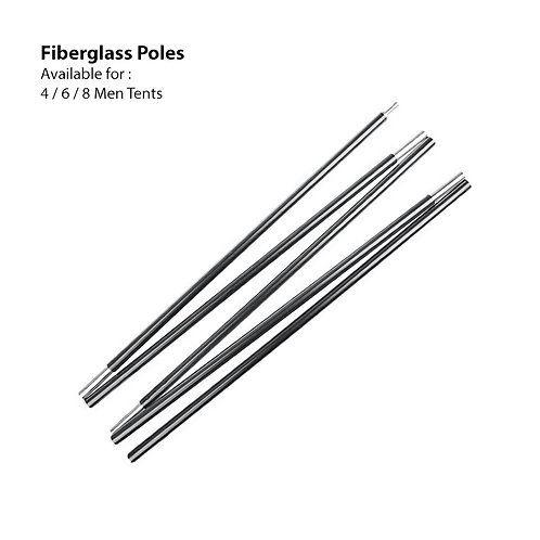 Fiberglass Pole 8 Men ( Dome Tent )