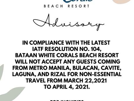 Travel Advisory and Requirements