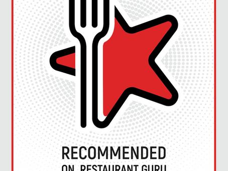 Recommendation Badge Award by Restaurant Guru