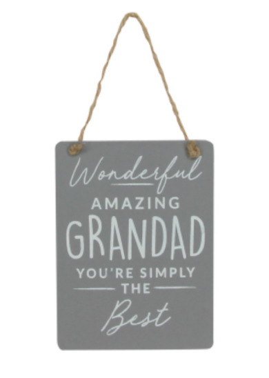 Wonderful Grandad Hanging Plaque
