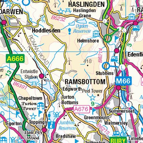 Ramsbottom Map Wooden Keyring