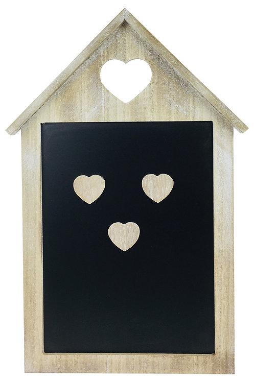 Limewash Memo Blackboard With Magnetic Hearts