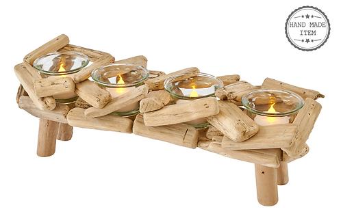 Driftwood Multi Tea Light Holder