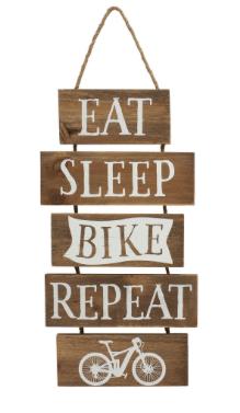 Eat, Sleep, Bike, Repeat Wooden Plaque