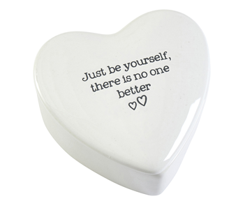 Just Be Yourself Heart Trinket Dish