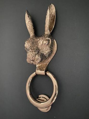 Chrome Finish Hare Door Knocker
