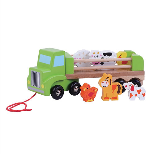 Wooden Farm Lorry With Animals