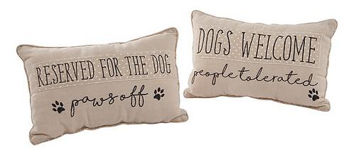 Dog Pawprint Cushion