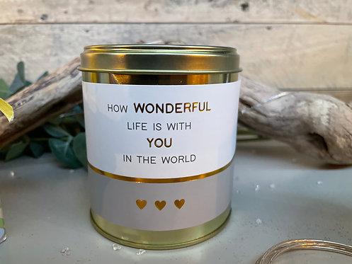 Sentiment Soy Wax Tin Candle - Pomegranate (4 options)