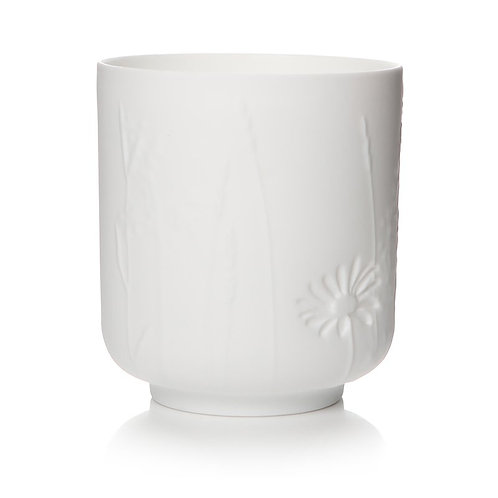 White Flower Candle Votive