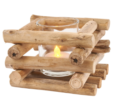 Driftwood Tea Light Holder