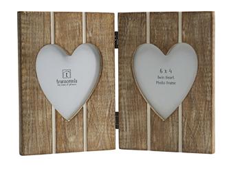 Wooden Folding Heart Frame