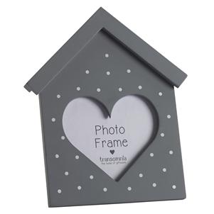 Heart House Frame - Grey