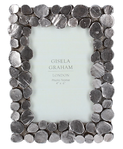 Pewter Pebble Picture Frame