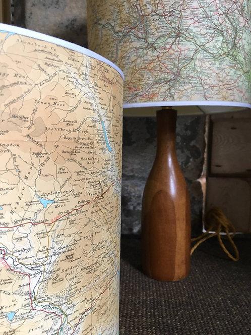 Bespoke Handmade Map Lamp Shade - 20cm
