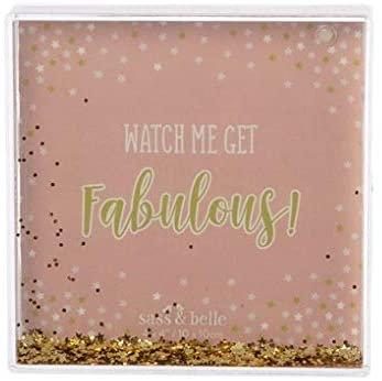 Watch Me Get Fabulous Glitter Photo Block
