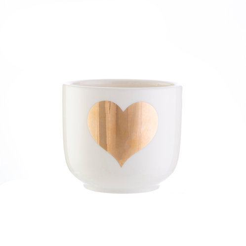 Mini Gold Heart Planter