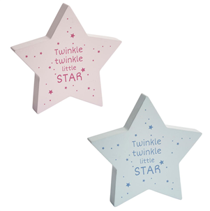 Twinkle Twinkle... Standing Star Baby Plaque