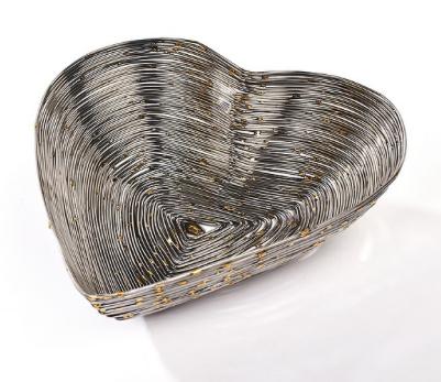 Silver Wire Heart Dish