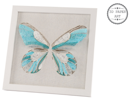 Blue Butterfly Plaque