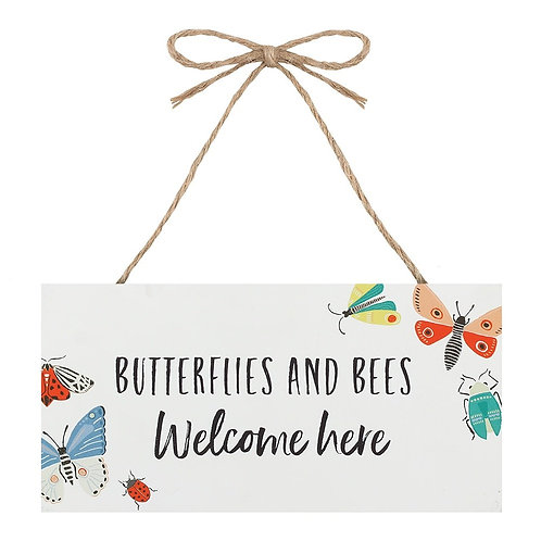 Butterflies & Bees Garden Sign