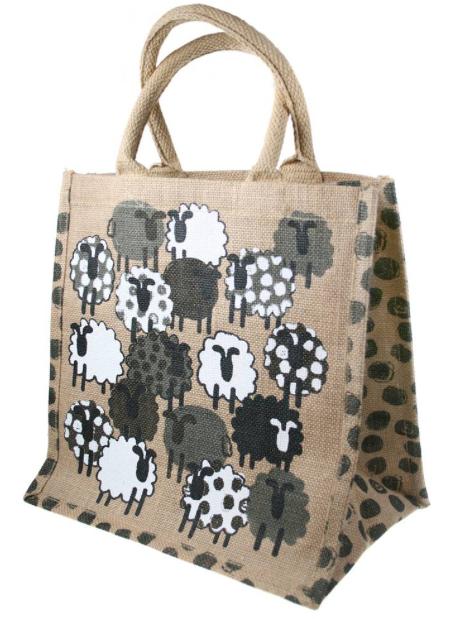 Sheep Jute Shopping Bag
