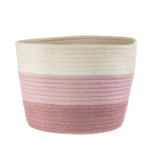 Pink Rope Basket