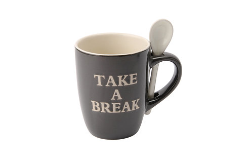 Take A Break Mug & Spoon
