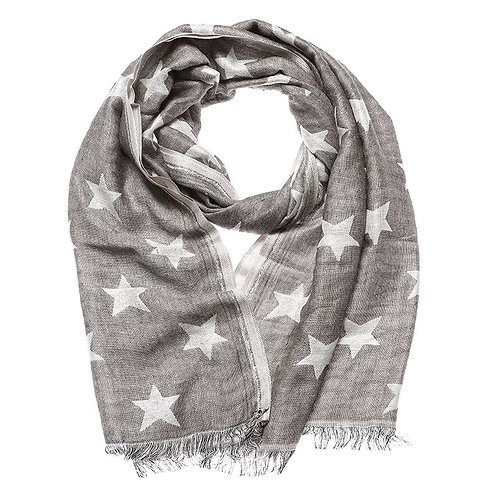 Shruti Silver Stars Scarf