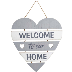 Welcome To Our Home Slatted Sign